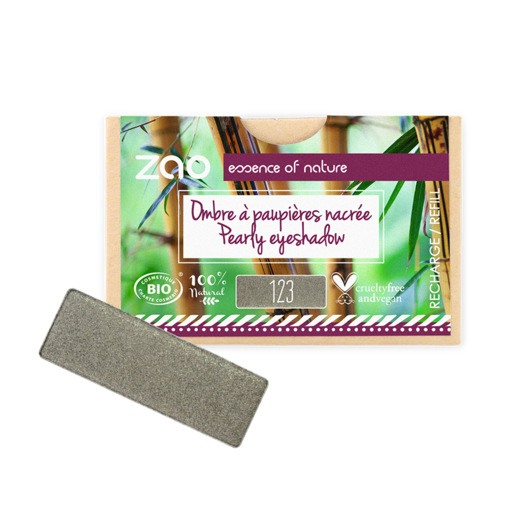 Refill Rectangle Eyeshadow  Grey Khaki 123