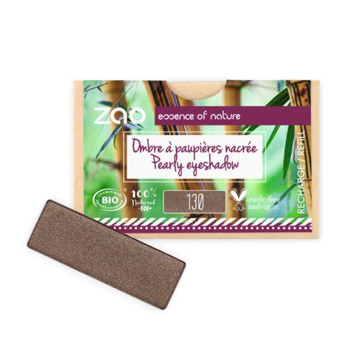Refill Rectangle Eyeshadow  130 Intense brown