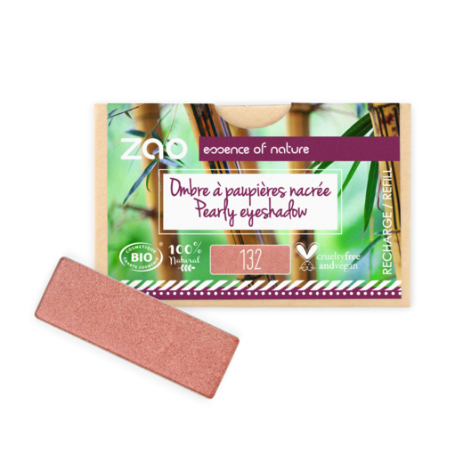 Refill Rectangle Eyeshadow  132 Peach Pink